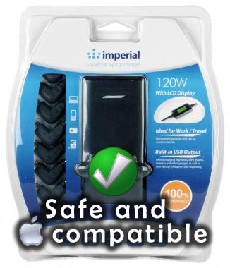 Imperial Gadgets Laptop Charger Compatible with Apple MacBook Laptops and iPhone 5 / iPads
